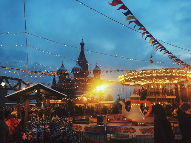 Christmas Market in the Red Square