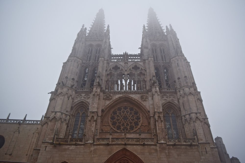 Burgos Cathedral in the fog