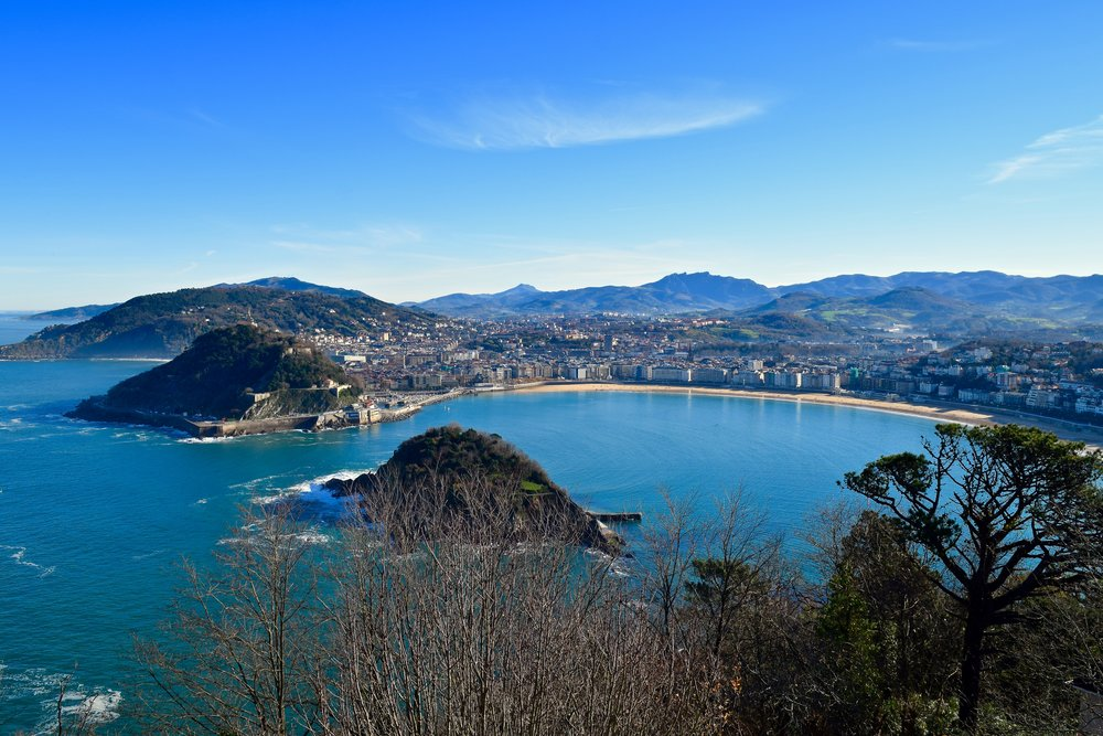 View of San Sebastián from Mount Igueldo