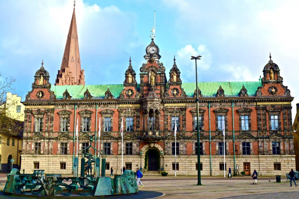 Malmö town hall in the Stortorget