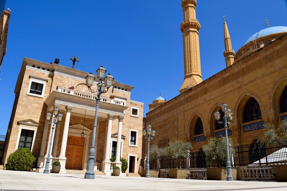 Catedral Maronita de San Jorge & Mezquita de Mohammad Al-Amin