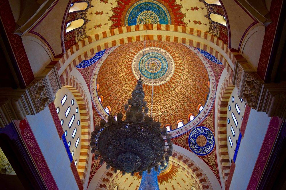 Interior de la Mezquita de Mohammad Al-Amin