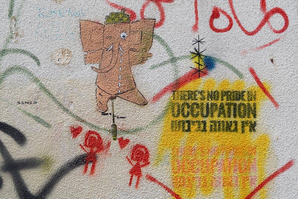 Graffiti en contra de la ocupación de Palestina