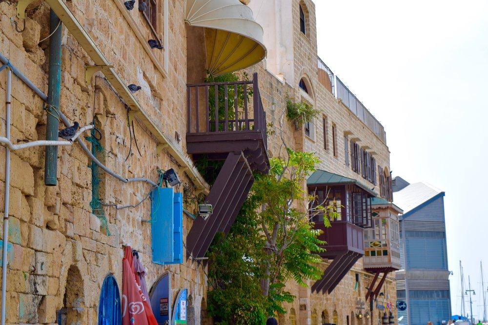 Balcones de la ciudad antigua