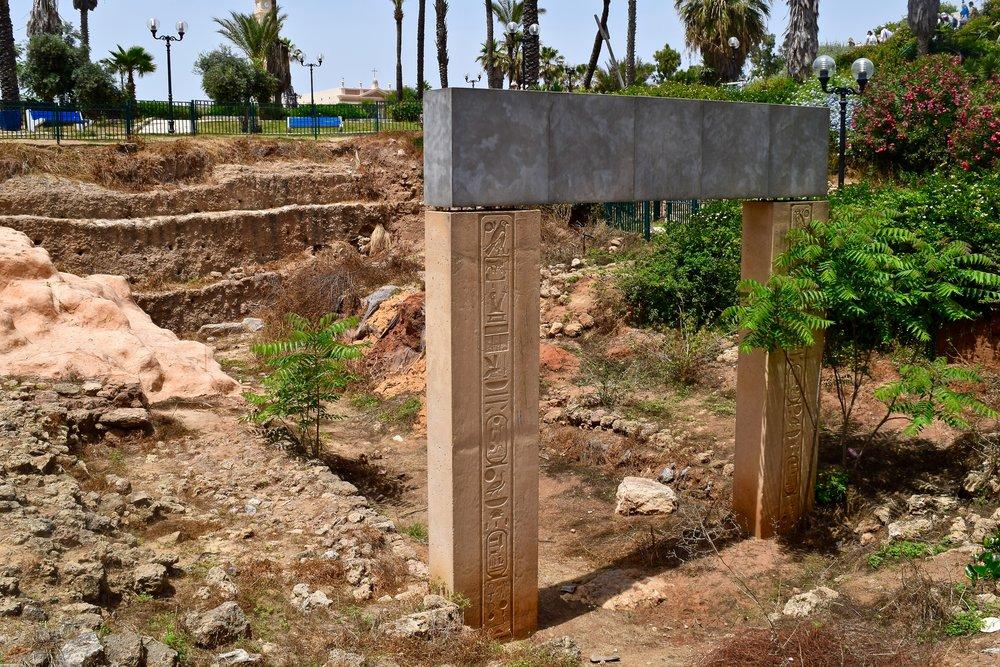 Puerta egipcia deRamsés II