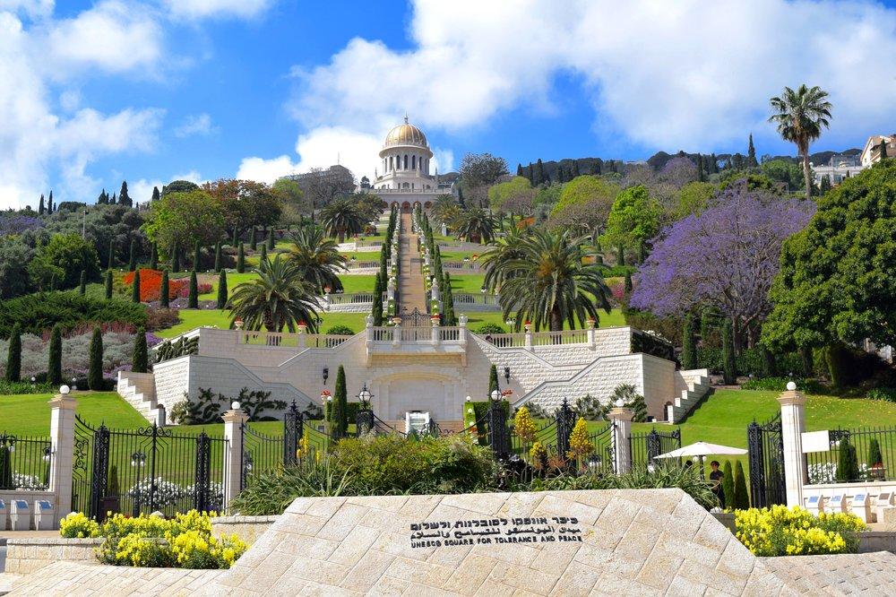 Vista delos jardines desde la Plaza dela Unesco para la Tolerancia y la Paz