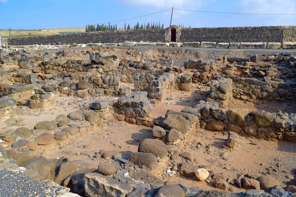 Remains of the residences of ancient Capernaum