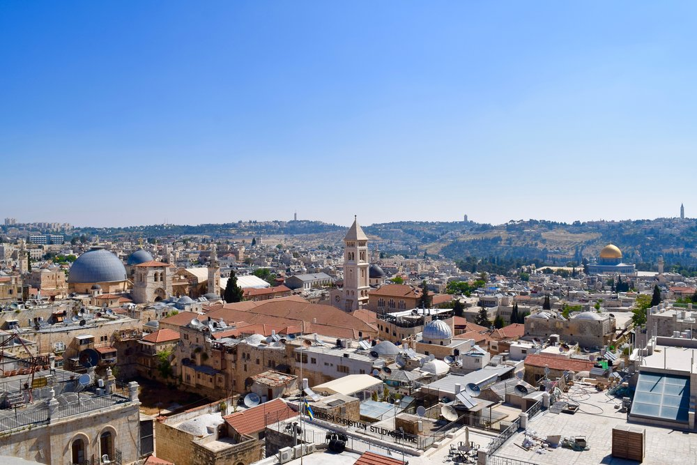 Views of the Church of the Holy Sepulchre, Church of the Redeemer & the Dome of the Rock