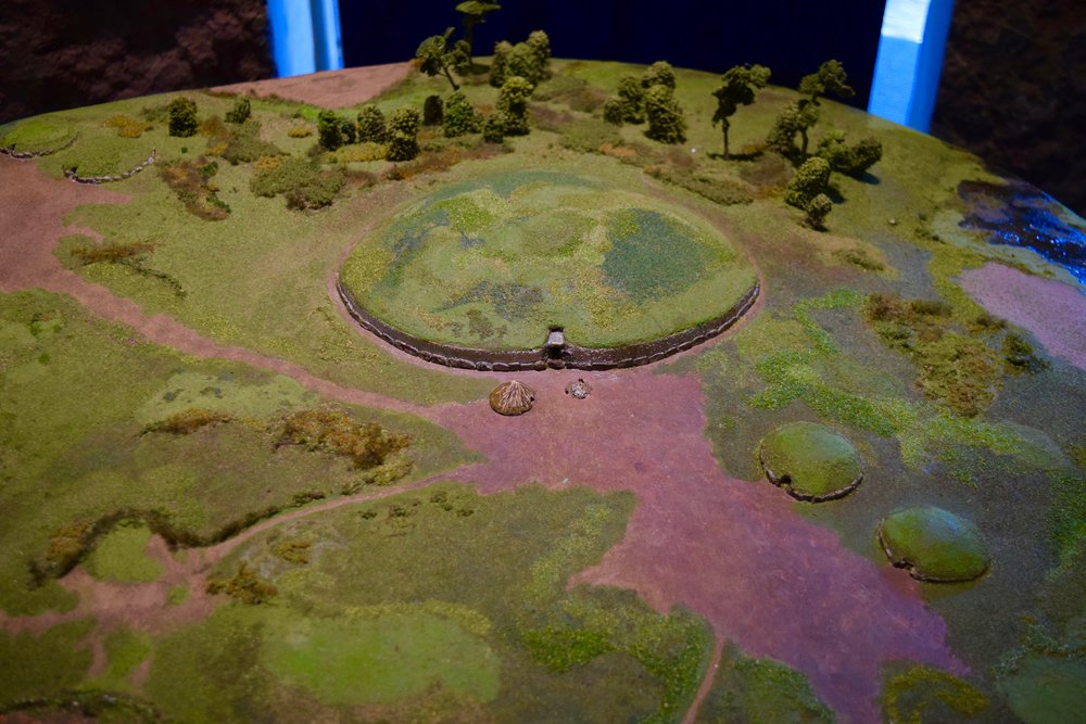 Maqueta de Newgrange