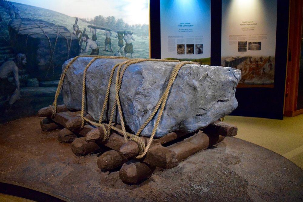 Método  de  transporte   de las  piedras