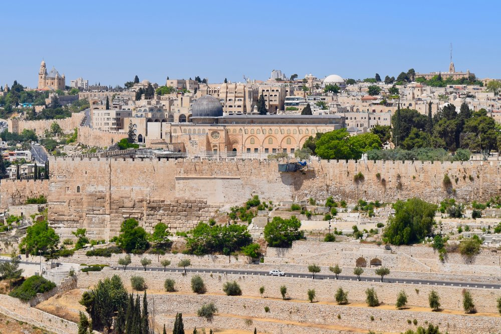 Mezquita de Al-Aqsa desde el Monte de los Olivos