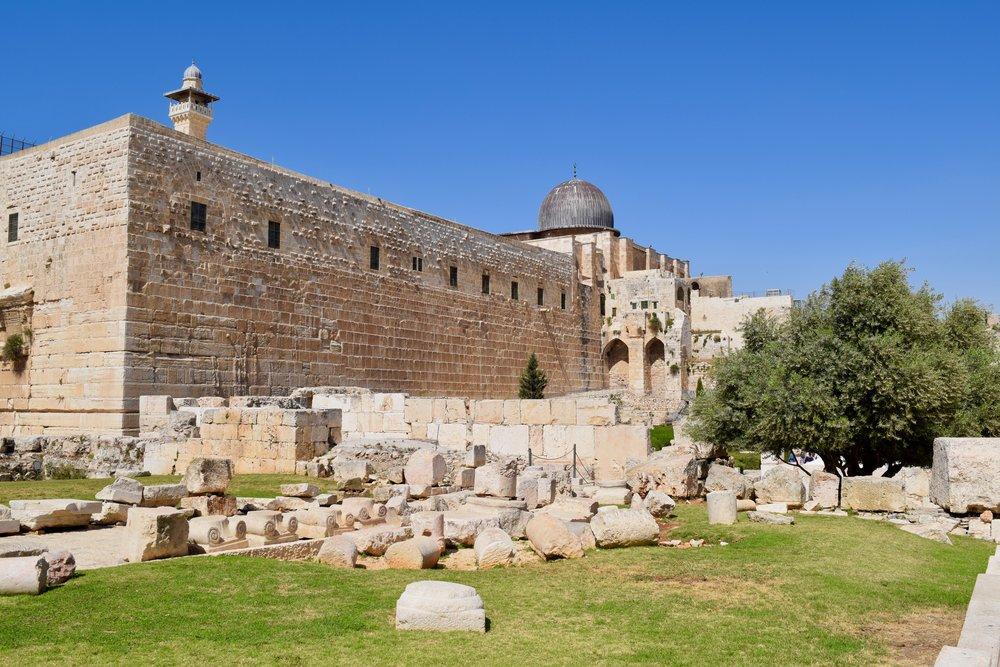 Vista de la Mezquita de Al-Aqsa desde la Ciudad de David