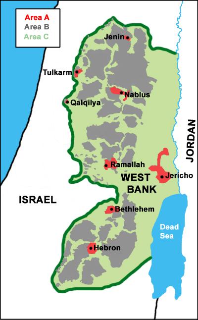 Áreas de Cisjordania