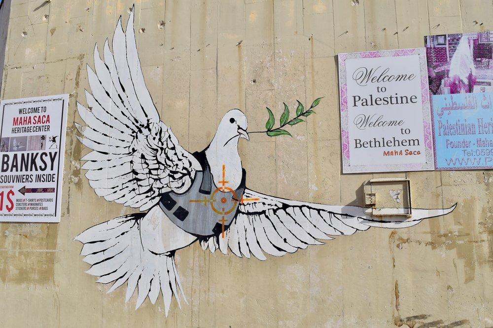 Paloma de la paz  de Banksy