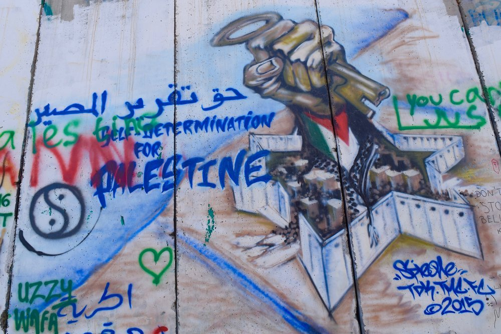Bethlehem Separation Apartheid Wall West Bank