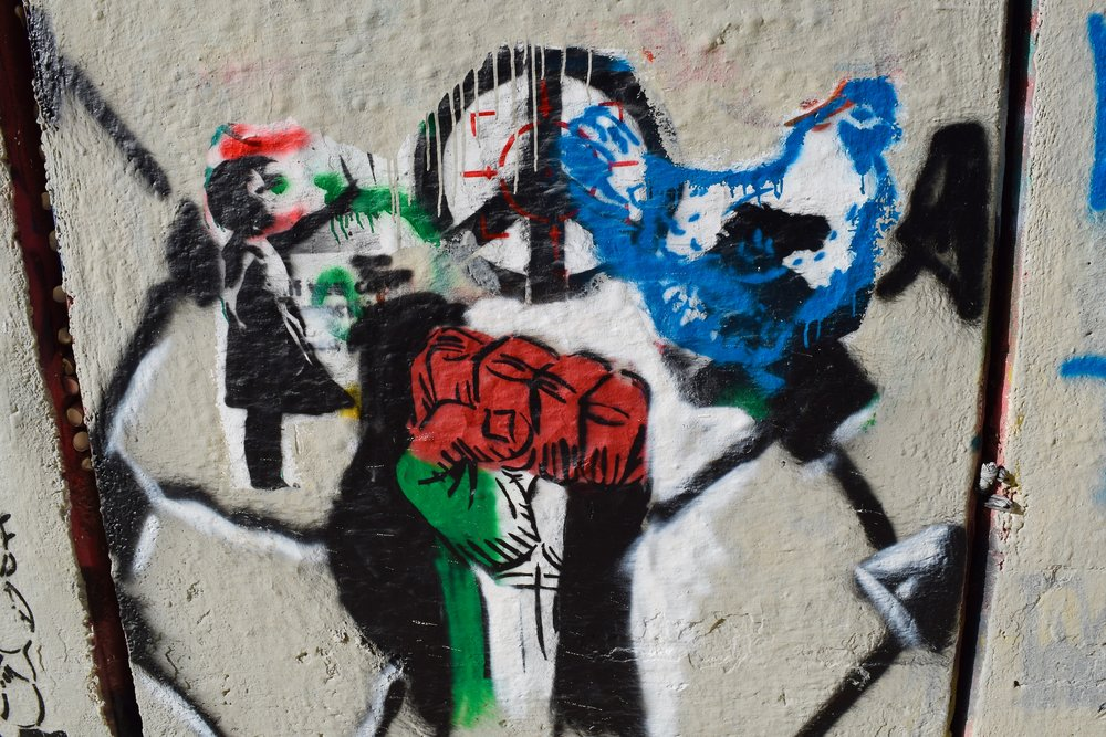 Graffiti Bethlehem Separation Apartheid Wall West Bank