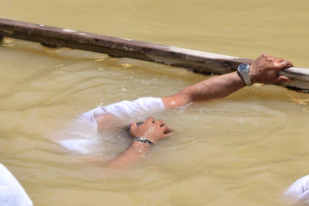 Baptism in Qasr  el-Yahud