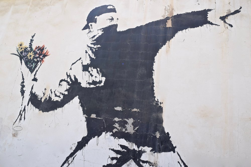 Cazador de flores  de Banksy