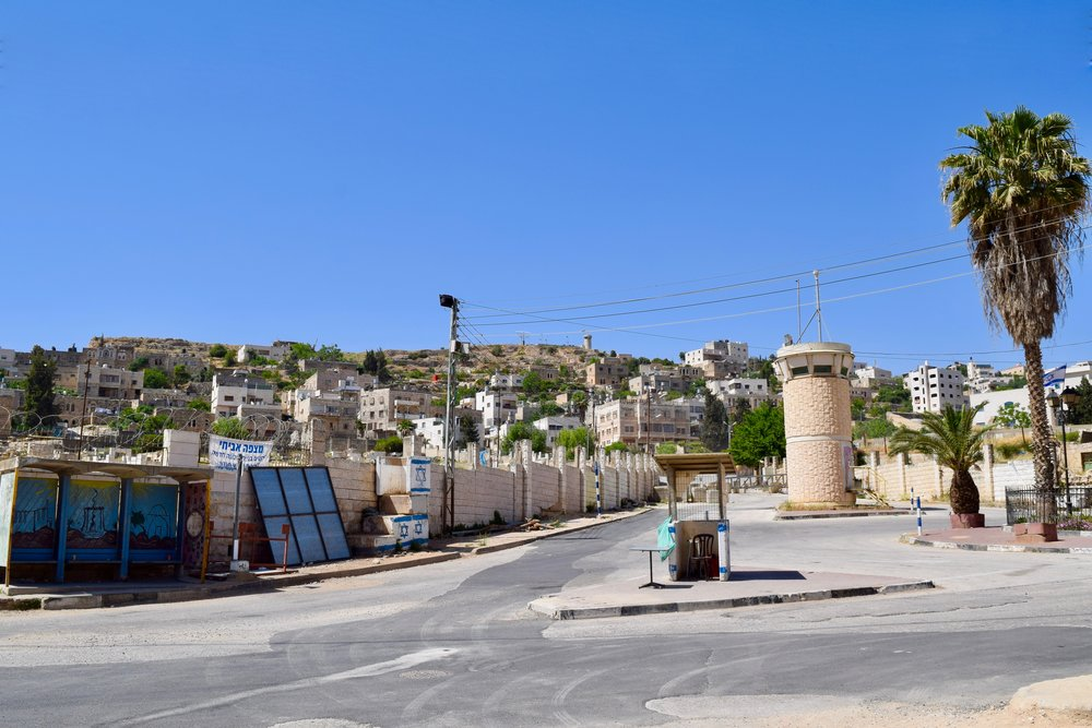 Military checkpoint in Hebron