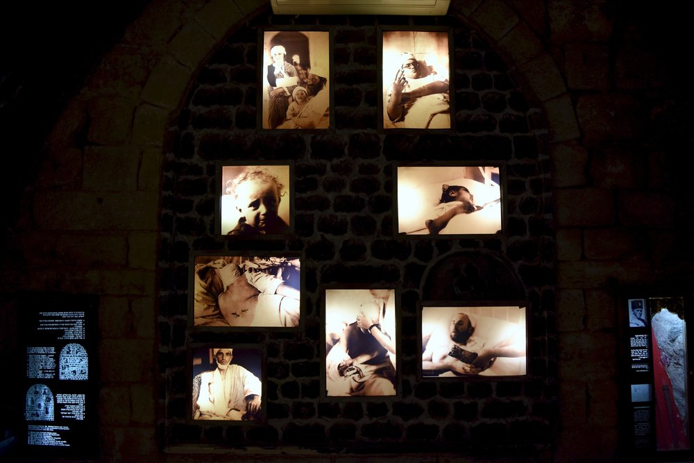 Imágenes de judíos heridos tras la masacre de 1929 en Hebrón