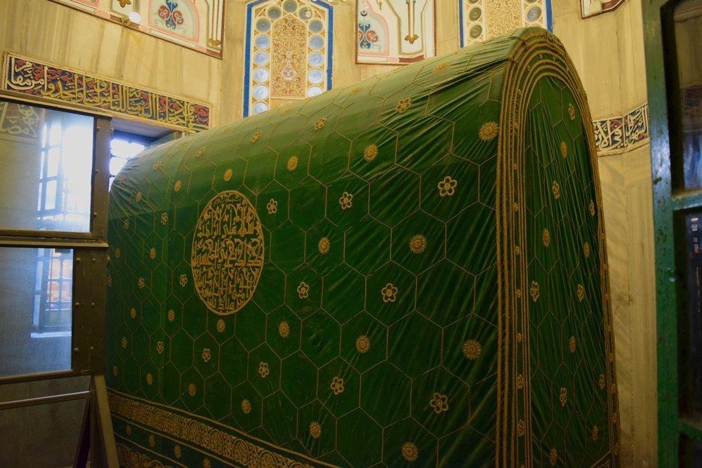 Tumba de Abraham en la mezquita Ibrahimi