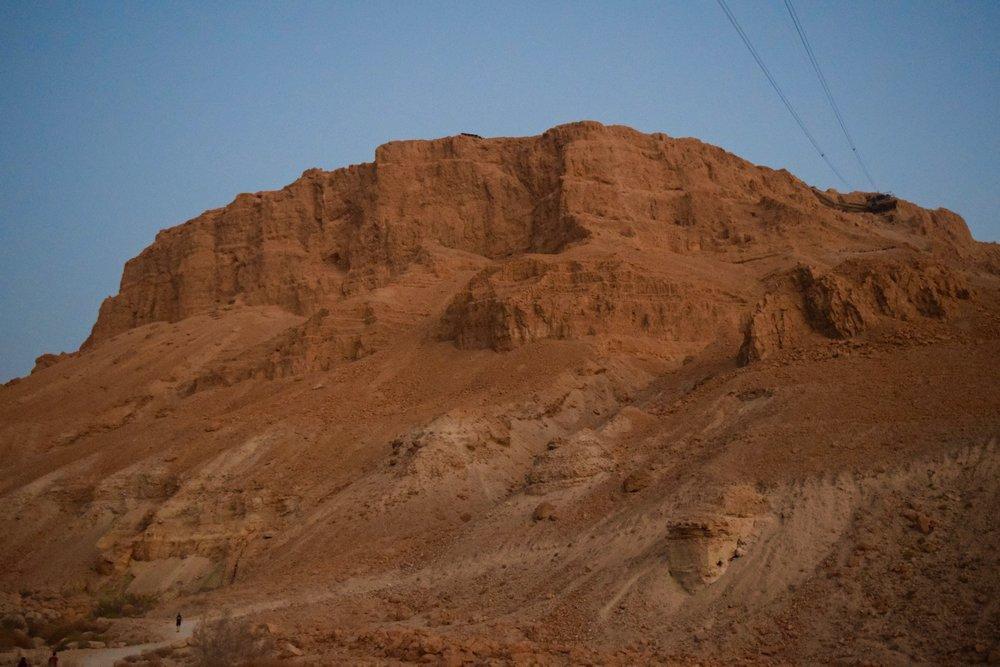 Masada just before the sunrise