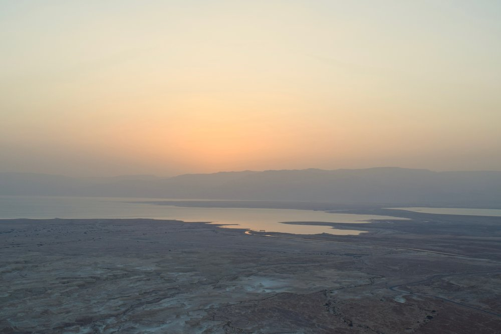 Views of the Dead Sea from Masada