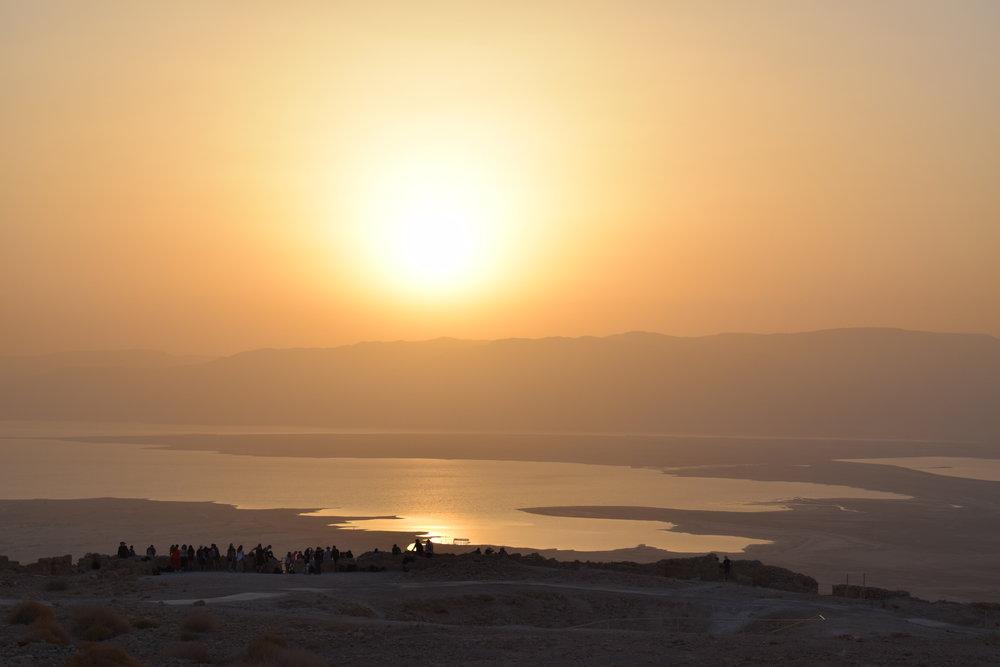Amanecer desde Masada
