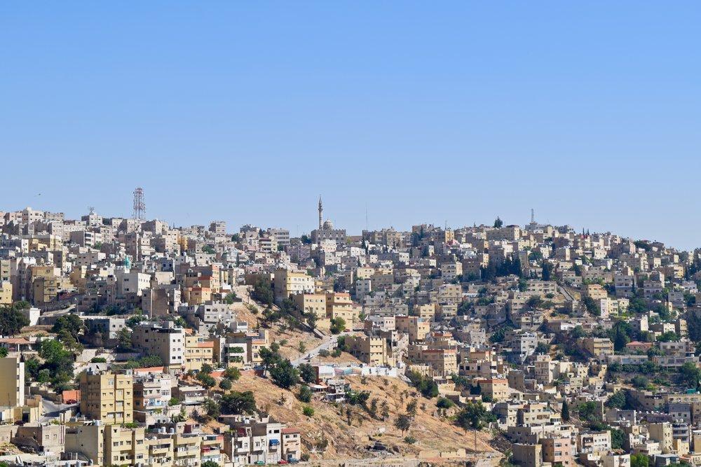 Ammán visto desde la ciudadela