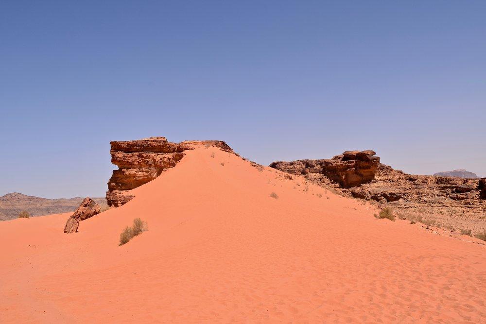 Duna de arena roja
