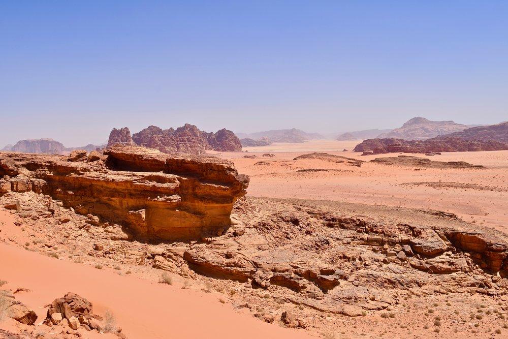 Vista del desierto desde lo alto de la duna