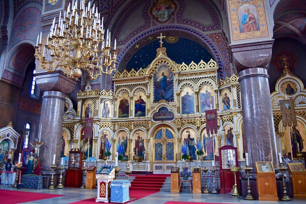 Interior de la catedral de Uspenski