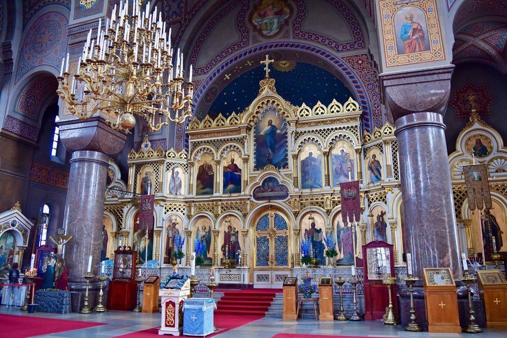 Interior of Uspenski Cathedral