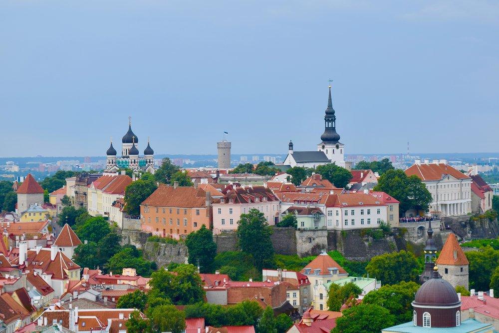 View of Tallinn from St. Olaf's Church