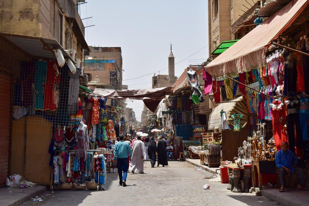 An unusually empty Khan el-Khalili bazaar