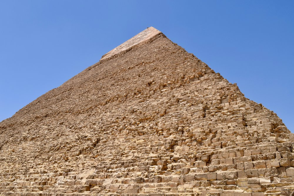 View of the Pyramid of Chephren