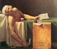 La morte di Marat, anche noto come Marat assassinato è un dipinto a olio su tela di Jacques-Louis David, realizzato nel 1793 e conservato nel museo reale delle belle arti del Belgio di Bruxelles