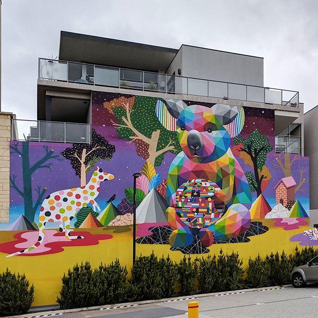 Loving this mural by #okudasanmiguel 🎨🖌️ So so great Perth! ✨  #murals #muralart #perth #streetart #artwa #formwa #painting #art #paintthecity #paintsubi #cityofsubiaco @okudart @formwa