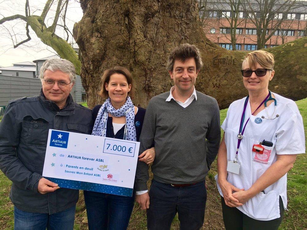 En  2017 , nous avons pu à nouveau apporter un soutien financier de 7.000€ à Parents en deuil.