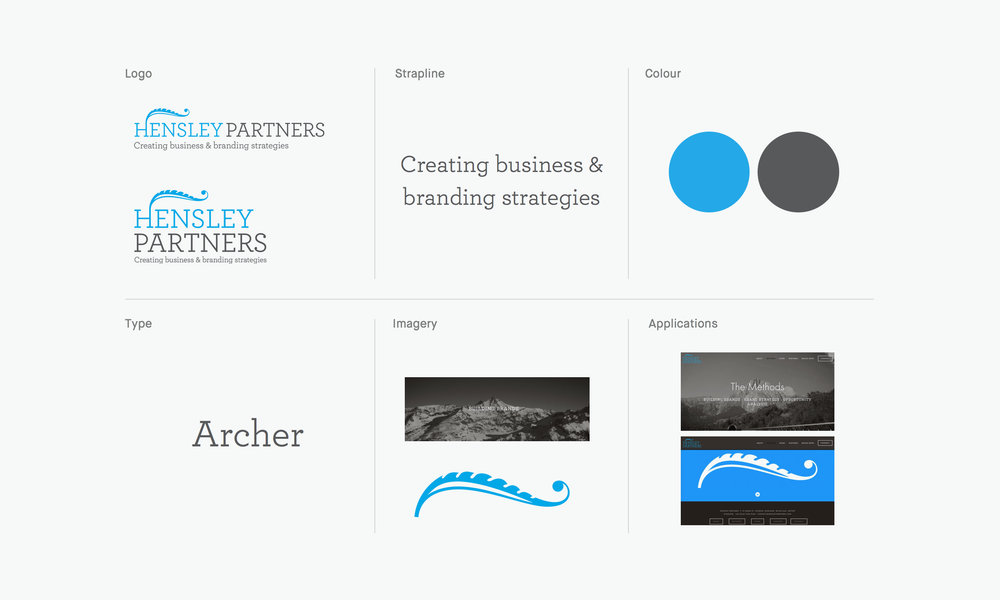 Hensley Partners original identity (2005-2017)