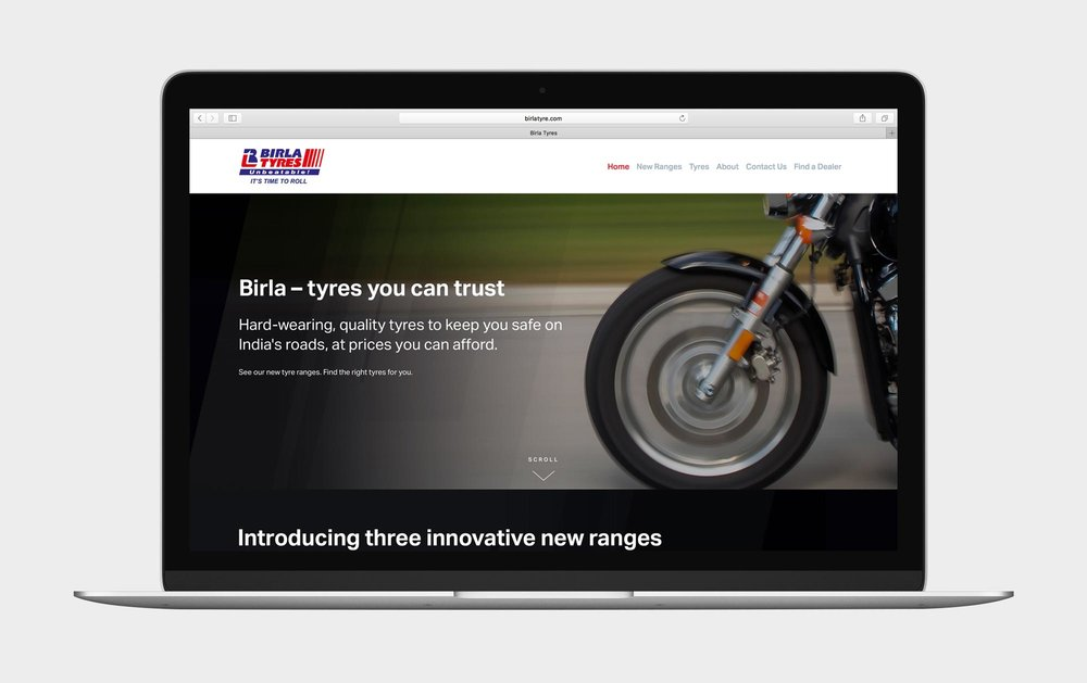 AFTER:  The new Birla Tyres website by Hensley Partners