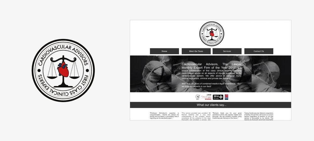 The old Cardiovascular Advisors branding