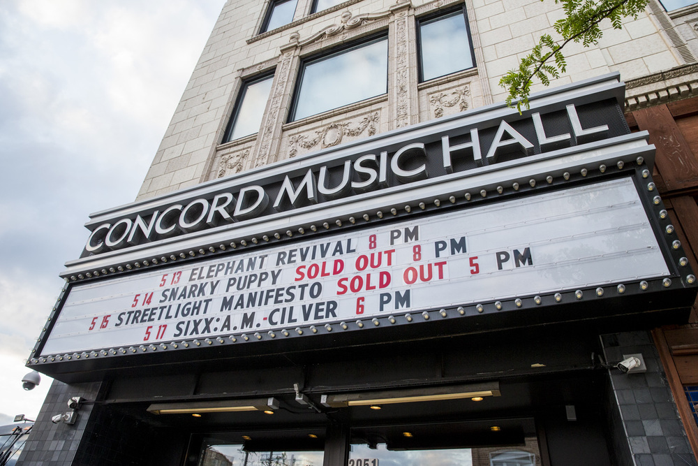 Concord Music Hall Marquee