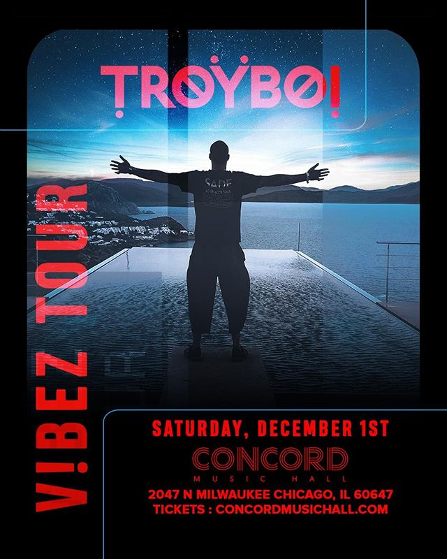 ICYMI: @TroyBoi_Music drops those fire beats at @ConcordHall Sat. 12/1! Tickets on sale now, fam. • • #TroyBoi #Chicago #ChicagoEDM #ChicagoMusic #ChicagoEvents #ThingsToDoInChicago #RageFam #Rage #FireBeats #EDM