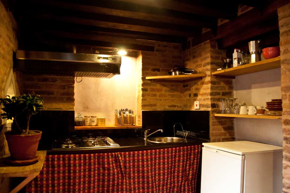 Your own equipped kitchen- with Italian coffee maker and French Press ;)