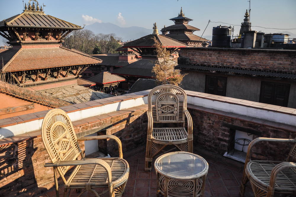 Beautiful view of Durbar Square from private terrace.