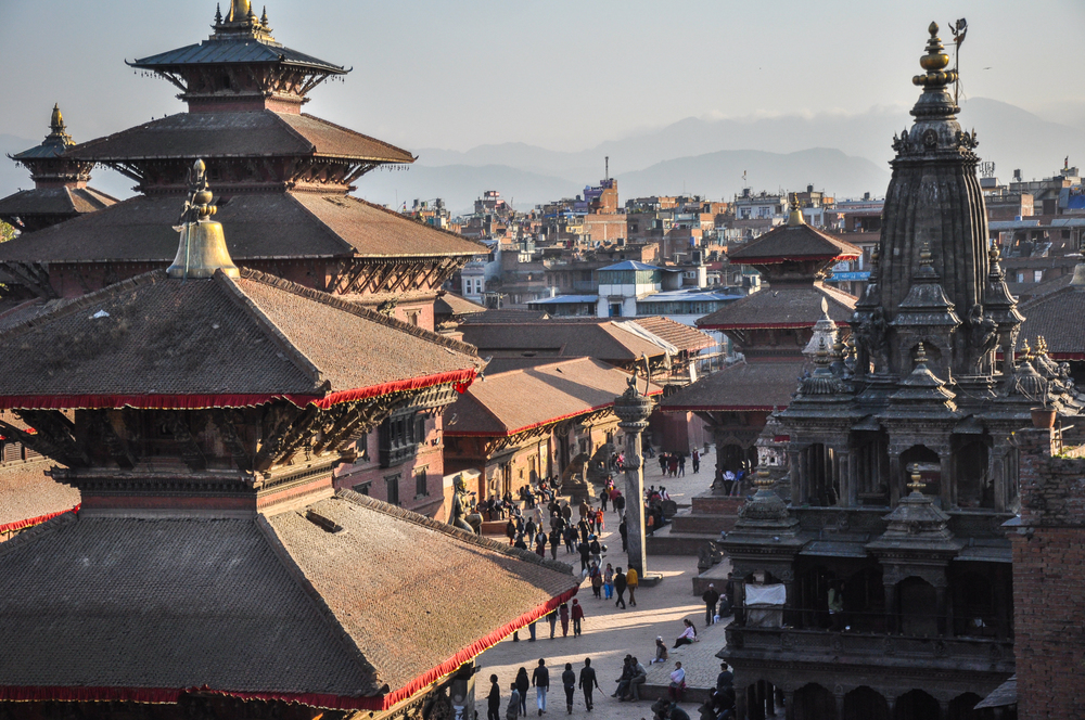The Durbar Square from the terrace.