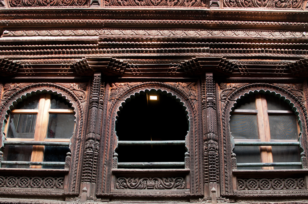 Typical Newari style window.