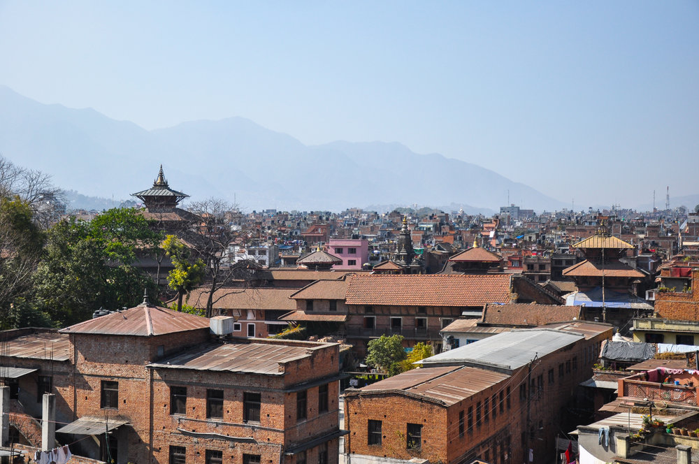 View of Durbar Square from the roof terrace