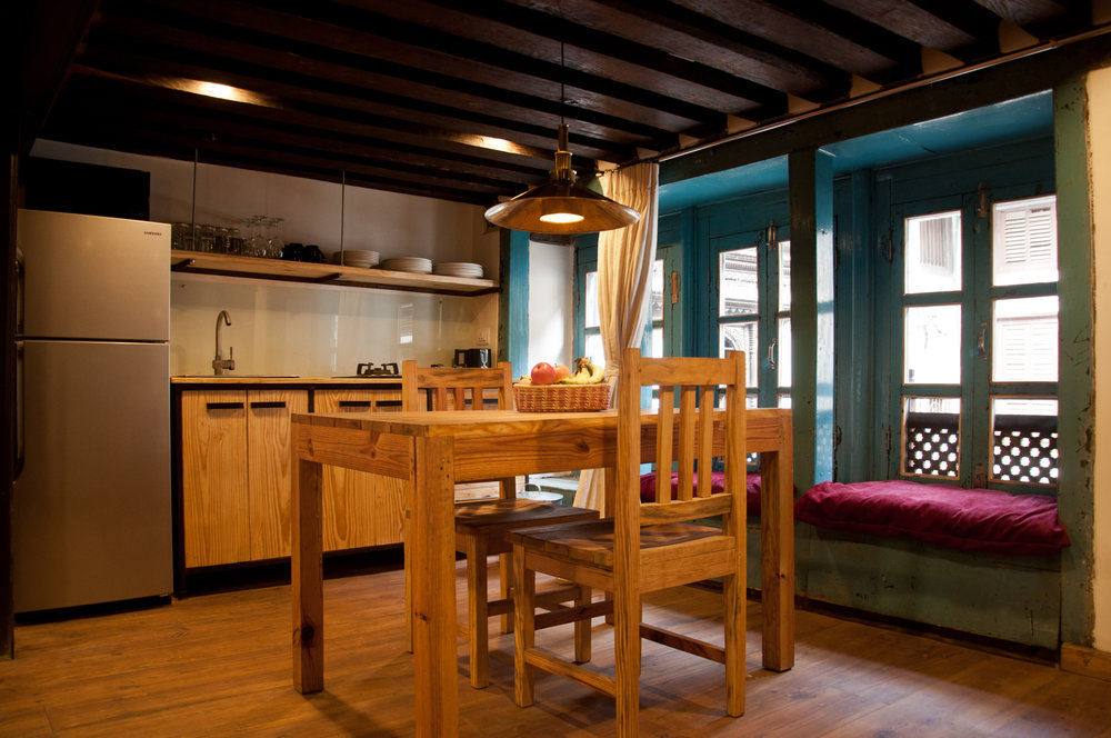 Cosy nepal unique accommodations in patan for Kitchen design nepal